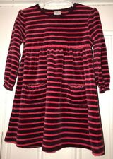 Jasper Conran Junior Girls Purple Pink Striped Velour Dress Sz 2-3Y