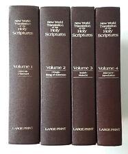 New World Translation Of The Holy Scriptures 4 Volume Set Large Print 1984