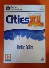 PC DVD GAME, CITIES XL- LIMITED EDITION, COFANETTO - PERFETTE CONDIZIONI