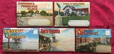1930s California Souvenir Postal Folders - Stars' Homes - La - Santa Barbara Etc