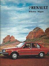 Auto Brochure - Renault - 18 - Sedan Wagon - c1980's  (A1048)