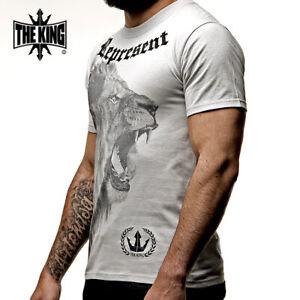 LION REPRESENT T-Shirt / mma fighter ufc venum training  jitsu muay boxing