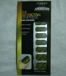 L'OREAL***THE SEDUCTIVE TEMPTRESS***18 Nail Stickers/9 Sizes~~BRAND NEW~~SEALED