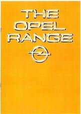 Opel Kadett Ascona Manta Rekord Commodore Senator Monza 1980-81 UK Brochure