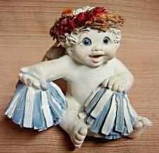 """1998 Dreamsicles by Kristin """"Pep Rally"""" #10726 Cherub w/PomPoms"""