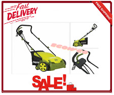 Electric Dethatcher Lawn Scarifier Collection Bag Revitalizing Small-Mid Size