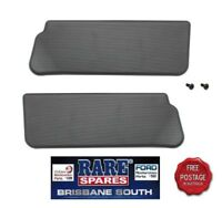 1 PAIR OF INTERIOR SUNVISORS, BLACK RIBBED, SUITS HQ HJ HX HX TORANA LH LX UC