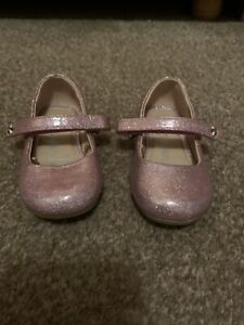 Girls Toddler Size 5 Pink Sparkly Glittery Shoes
