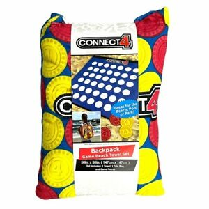 Hasbro Connect 4 backpack with beach towel game NEW