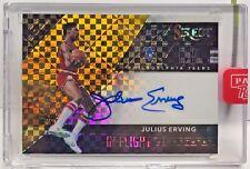 Julius Erving 2016-17 Panini Select In Flight GOLD Prizm Autograph Auto #'d 9/10