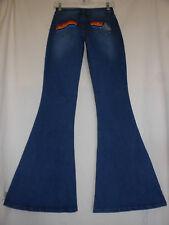 STAR WARS Hans Solo NWT Denim Retro Bell Bottom Flare Stretch Jeans 70s Disco
