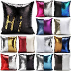 Hi Reversible Sequin Mermaid Glitter Sofa Cushion Cover Pillow Case Double Color