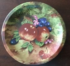 """Portuguese A J Heritage pottery Plate With Fruit Transfer. 9.5"""""""
