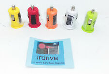 Lot 5: Assorted Compact Single Port Led Usb Car Charger for Samsung, iPhone,Sony