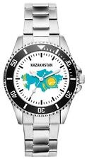 Kasachstan Geschenk Fahne Karte Flagge Kasachische Uhr 1117