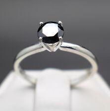 .74cts 5.94mm Real Natural Black Diamond Ring AAA Grade & $570 Value....