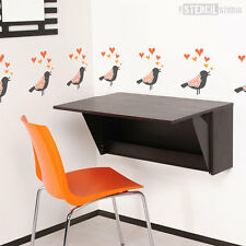 Song Bird Children's Nursery Wall/ Furniture / Fabric STENCIL Home Decorating