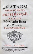 1748 BUBONIC PLAGUE & Preventing Measures King D. José I Of Portugal Medicine