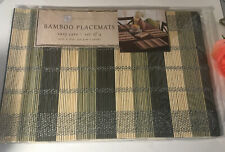 """Benson Mills  Bamboo placemat  12""""x18  table  protector  set of 4 See Pictures !"""