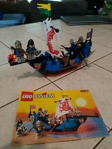 LEGO Sea Serpent 6057 100% Complete /W Instructions Castle Black Knights Falcon
