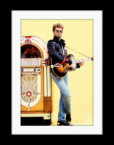 GEORGE MICHAEL Faith Art Vintage style  Poster Mounted Framed FREE POST