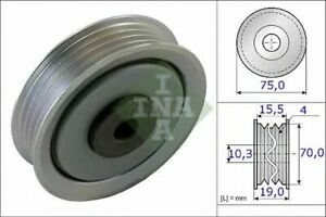 NEW INA V-RIBBED BELT TENSIONER PULLEY OE QUALITY REPLACEMENT 531 0845 10