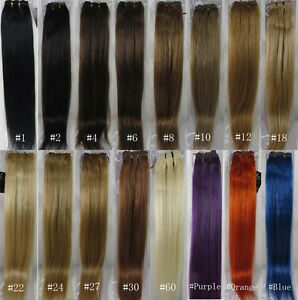 """15""""-36"""" Remy Human Hair Weft Weaving Extensions Straight 100g Width 59"""" UK"""