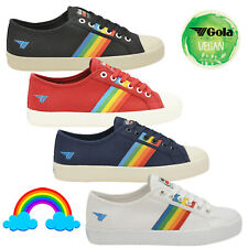 Gola Womens Coaster Rainbow Trainers Ladies Canvas Lace Up Retro Sneaker Pumps🌈