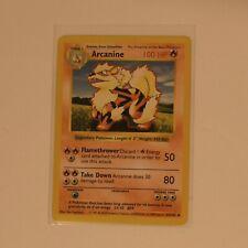 First 1st Edition Base Set Shadowless Pokemon Tangela 66/102 & Arcanine 23/102