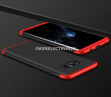 Black+Red Hybrid 3in1 Full Cover Tempered Glass Back Case For iPhone 7 Plus S002