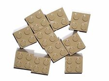 LEGO 10 Dark Tan Bricks 2 x 2 NEW