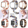 Metal Housing+Resin Accessory Band Wristband Strap Bracelet for Fitbit Blaze