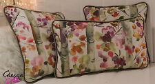 Velvet Floral Rectangular Decorative Cushions