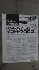 Pioneer kp-a750 kph-7000 service manual original repair book stereo tape car