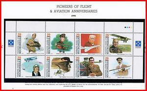 MICRONESIA 1992 PIONEERS of FLIGHT mnh PLANES, HELICOPTERS, WWI MILITARY