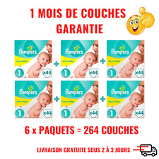 Couches PAMPERS Taille 1 (2 à 5Kg) Harmonie - 264 couches - Format pack 1 mois