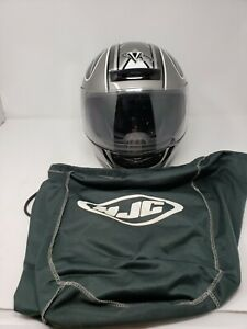 EUC Black/Gray Laguna X2V Jr. DOT Approved Motorcycle Helmet Juniors Large