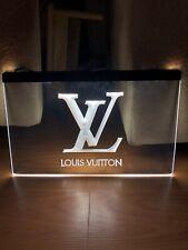 LOUIS VUITTON LED NEON LIGHT SIGN SIZE 8x12, VERY UNIQUE, COLLECTIBLE.