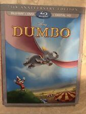 Dumbo 75th Anniversary Edition (Blu-ray + DVD + Digital + Slipcover) Disney