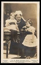 1905 QUEEN VICTORIA WITH PRINCE ARTHUR & PRINCESS PATRICEA REAL PHOTO POSTCARD