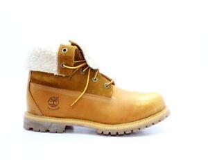 TIMBERLAND TB0A119C231 TEDDY FLEECE Wmn's (M) Wheat Leather Waterproof Boots