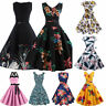 Fashion Vintage Dress 50s 60s Rockabilly Pinup Housewife Party Swing Dress Lots