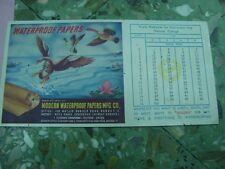 Old Vintage Advertisement Blotter Paper Card from India 1960