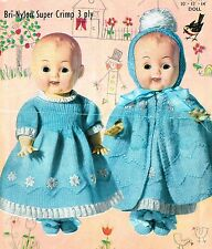 Dolls clothes knitting pattern for 10 inch,12 inch, 14 inch doll. (V Doll 37)