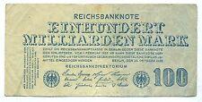 GERMANY NOTE 100 MILLIARDEN MARK 26.10.1923 P 126 AVF