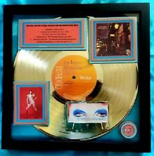 """DAVID BOWIE  GOLD RECORD  Ziggy Stardust """"Spiders From Mars""""  1972  Iconic RARE"""