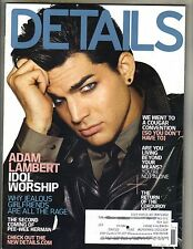 ADAM LAMBERT Details Magazine 11/09 IDOL WORSHIP TOM BRADY