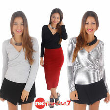 Polyester Machine Washable Striped Regular Tops & Blouses for Women