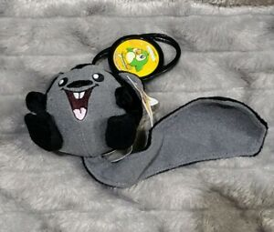 Neopets Shadow Black Meerca Squirrel McDonalds Mini Promo Plush Stuffed Toy 3""