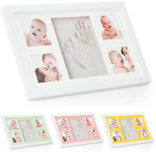 Babyboon Hand and Footprint Photo Frame Kit - 4 COLOURS IN ONE PACK ( WHITE )
